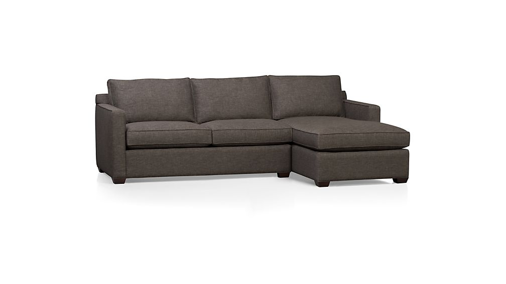 Davis 2 piece sectional sofa graphite crate and barrel for Davis 2 piece sectional sofa