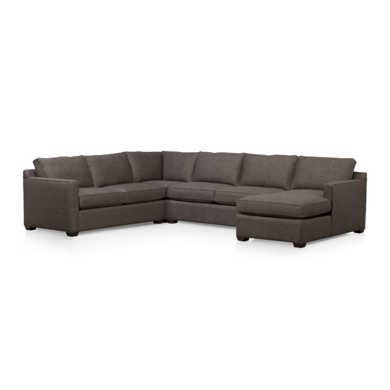 Davis 4-Piece Sectional Sofa - Graphite  Crate and Barrel