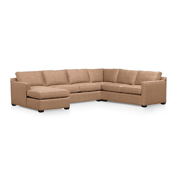 davis 4 piece sectional sofa crate and barrel