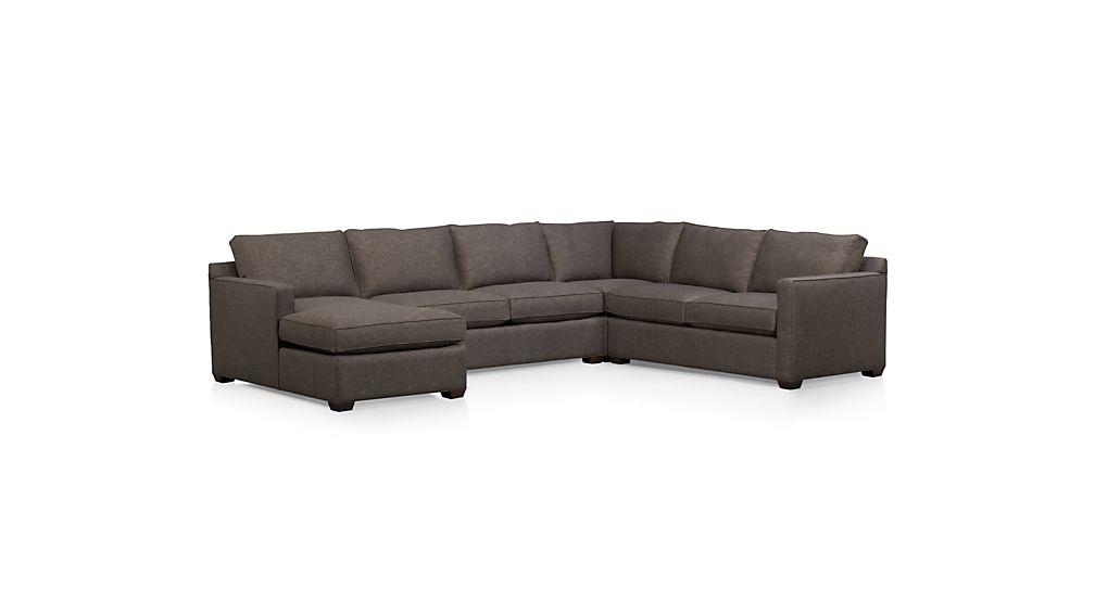 Davis Right Arm Sectional Apartment Sofa