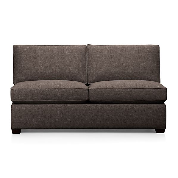 Davis Armless Sectional Full Sleeper Sofa with Air Mattress