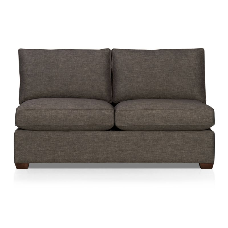"""Davis is a contemporary compact sectional sleeper designed for contemporary real life. Every imaginable configuration is possible between these modular pieces and the companion stand-alone pieces, all with firm but plump support. Understated hardwood legs come in a variety of finish options.<br /><br />After you place your order, we will send a fabric swatch via next day air for your final approval. We will contact you to verify both your receipt and approval of the fabric swatch before finalizing your order.<br /><br /><NEWTAG/><ul><li>Eco-friendly construction</li><li>Certified kiln-dried hardwood frame</li><li>Seat cushions are multilayer soy- or plant-based polyfoam wrapped in fiber down blend encased in downproof ticking</li><li>5.5"""" bi-fold innerspring mattress</li><li>Back cushions are fiber encased in downproof ticking</li><li>Self-welt detail</li><li>Benchmade</li><li>See additional frame options below</li><li>Made in North Carolina, USA</li></ul>"""