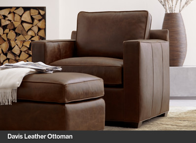 Davis Leather Ottoman