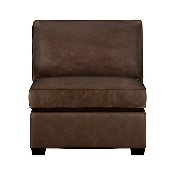 Davis Leather Sectional Armless Chair