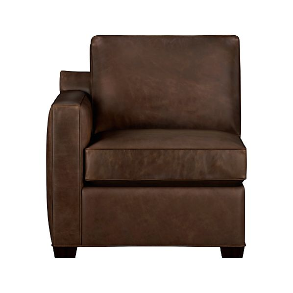 Davis Leather Sectional Left Arm Chair