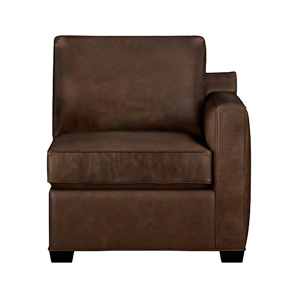 Davis Leather Sectional Right Arm Chair