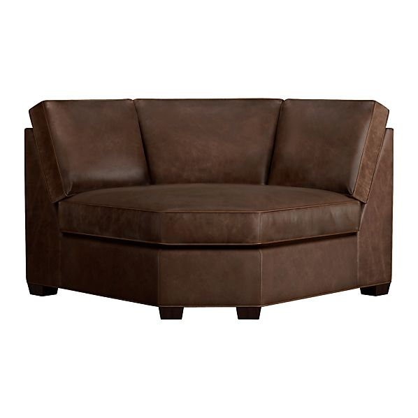Davis Leather Sectional Wedge