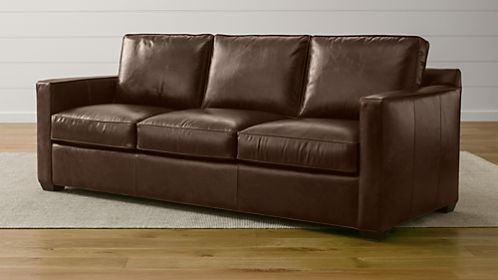Davis Leather 3-Seat Sofa