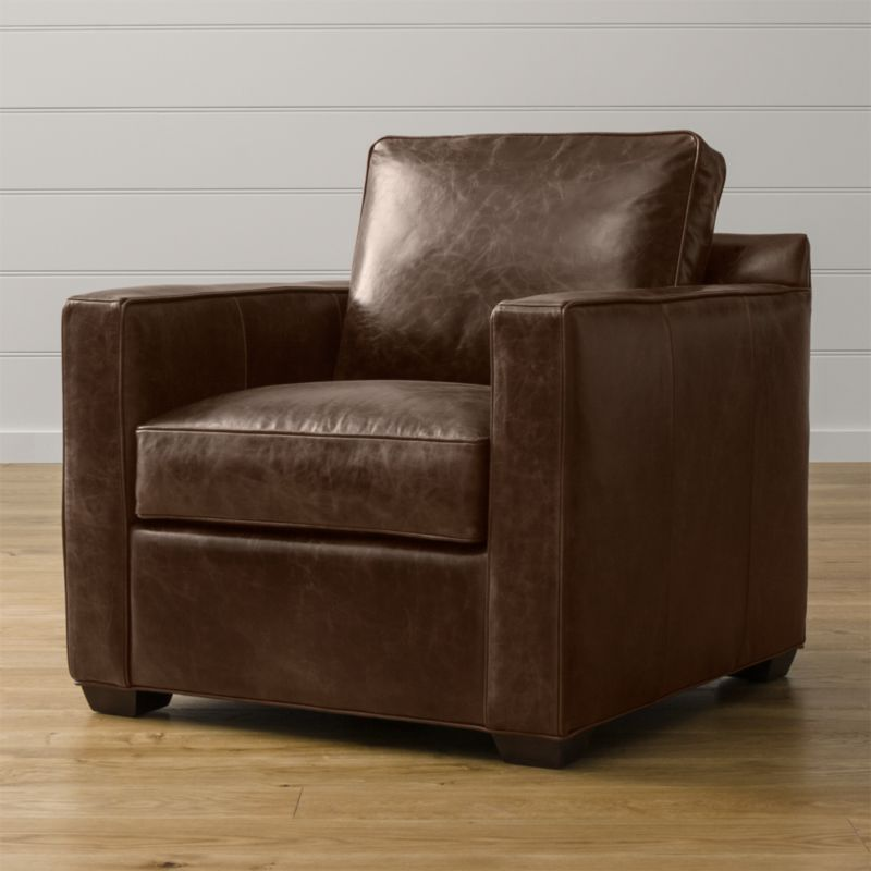 Davis Leather Chair Cashew Crate And Barrel