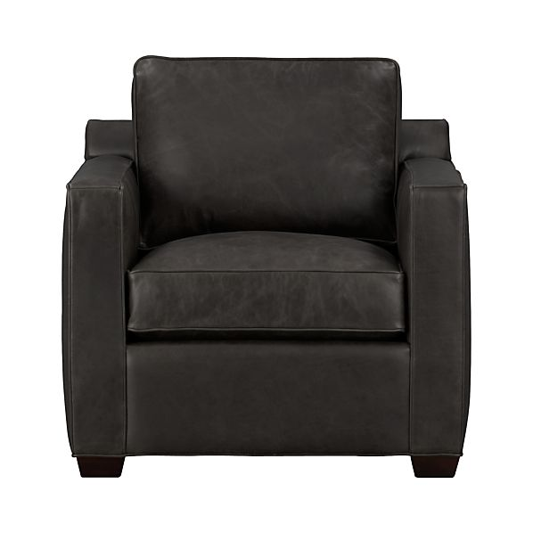 Davis leather chair smoke crate and barrel - Crate and barrel parsons chair ...