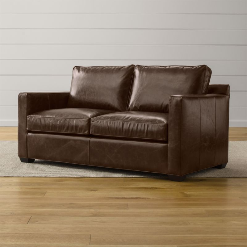 Davis Leather Full Sleeper Sofa Cashew Crate And Barrel