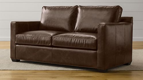 Davis Leather Apartment Sofa