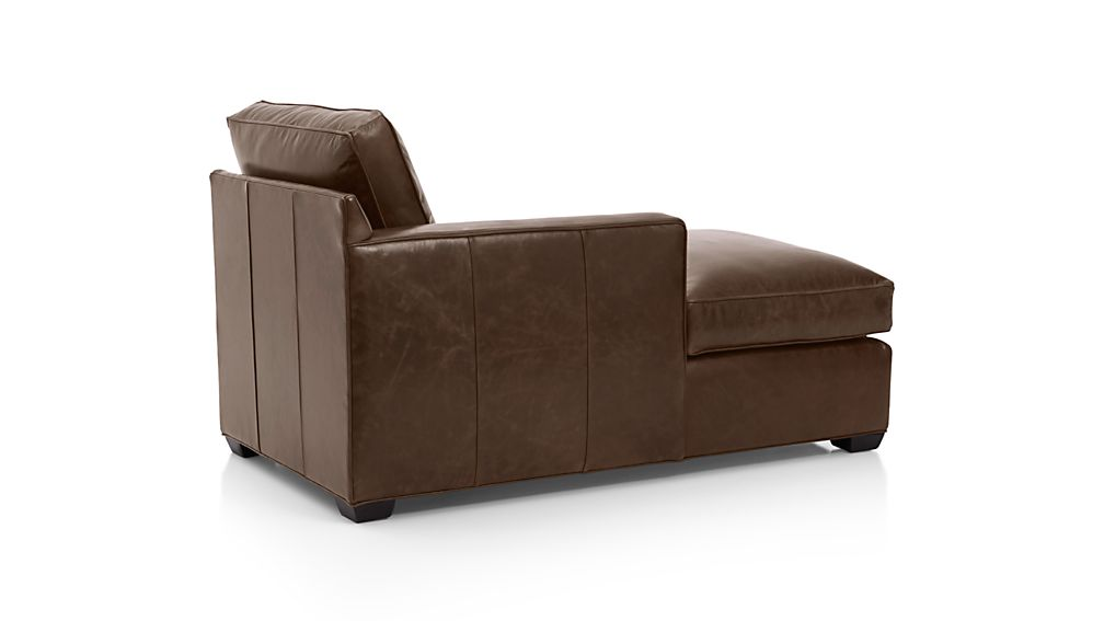 Davis Leather Left Arm Chaise