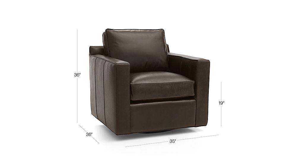Davis Leather Swivel Chair Dimensions