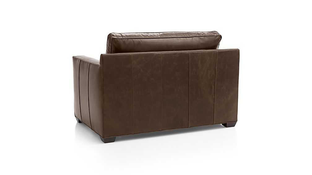 Davis Leather Twin Sleeper Sofa
