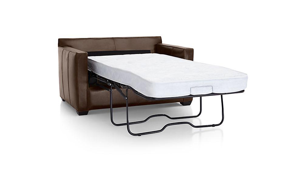 Davis Leather Twin Sleeper Sofa