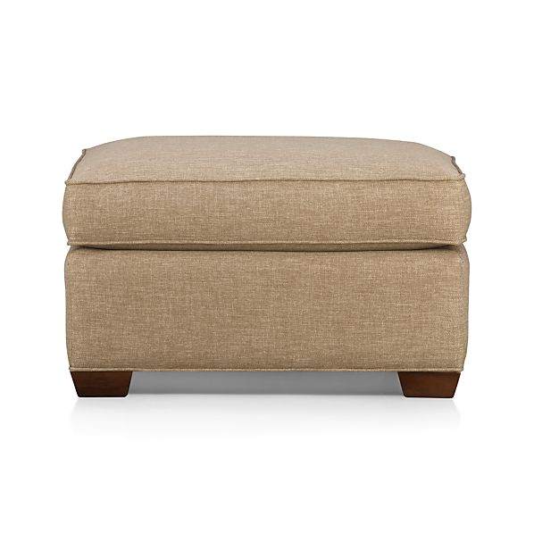 Davis Ottoman In Davis Sofa Collection Crate And Barrel