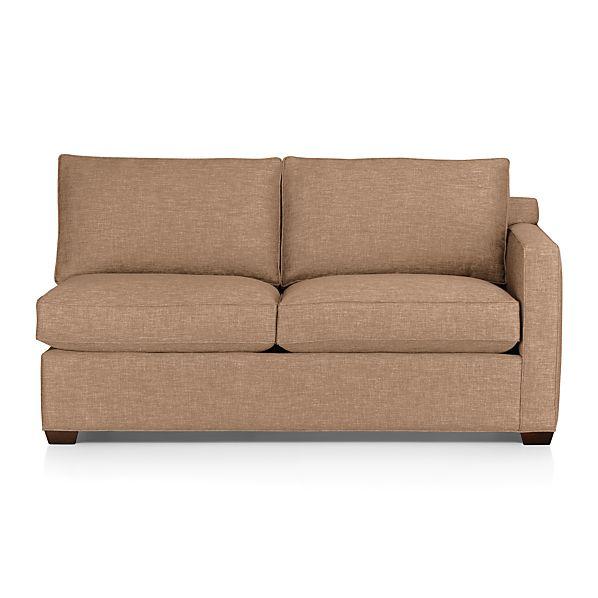 Davis Right Arm Apartment Sofa - Mink  Crate and Barrel