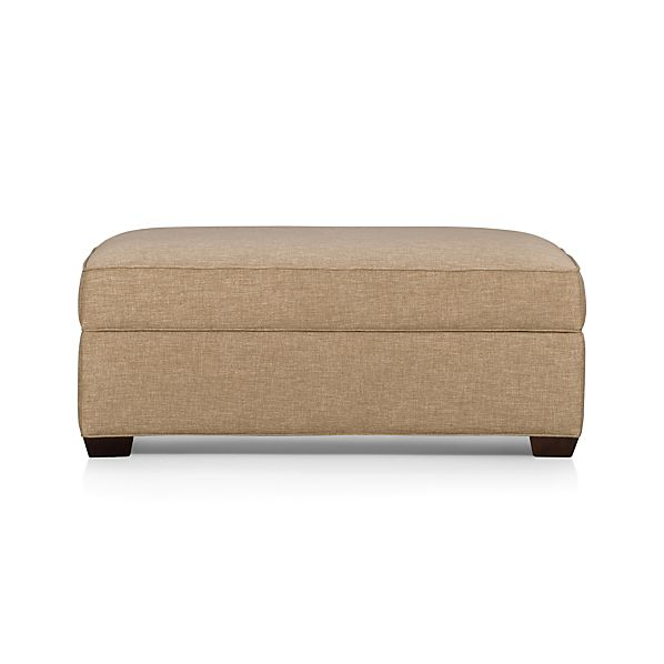 davis storage ottoman in davis sofa collection crate and barrel