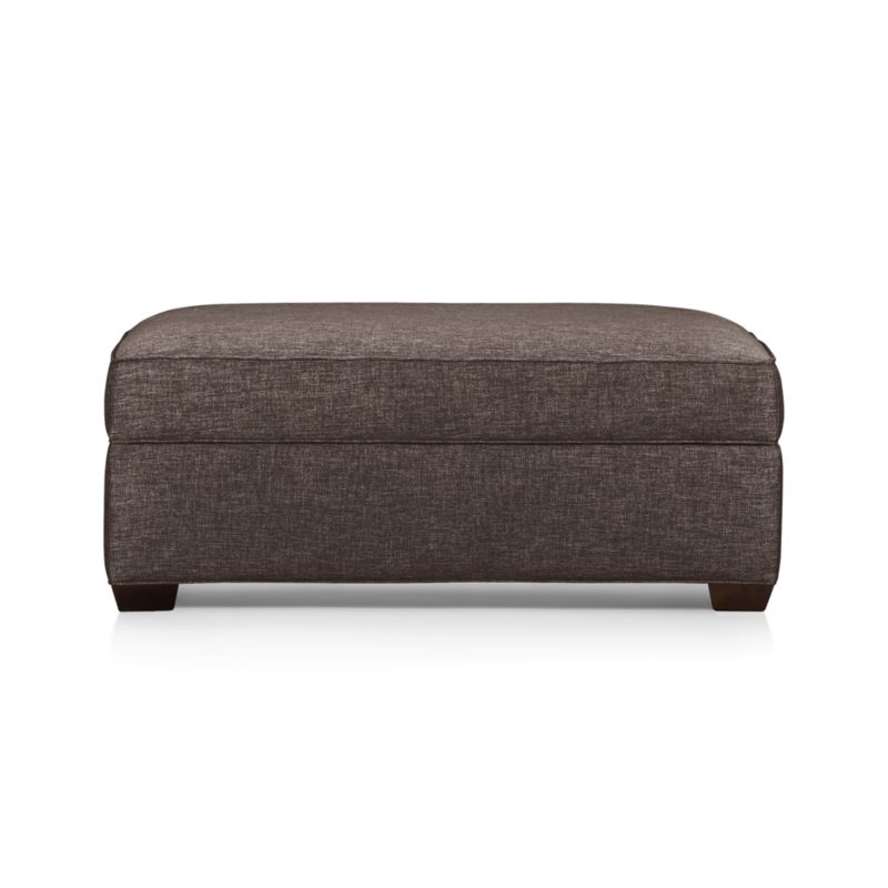 The Davis ottoman and a half is scaled extra-wide. Pair it with its companion chair and a half for the ultimate lounge or let it go solo in a foyer, by a window or at the foot of a bed. Understated hardwood legs have a rich hickory stain.<br /><br />After you place your order, we will send a fabric swatch via next day air for your final approval. We will contact you to verify both your receipt and approval of the fabric swatch before finalizing your order.<br /><br /><NEWTAG/><ul><li>Eco-friendly construction</li><li>Certified kiln-dried hardwood frame</li><li>Cushion is multilayer soy- or plant-based polyfoam wrapped in fiber down blend encased in downproof ticking</li><li>Flexolator spring suspension</li><li>Self-welt detai