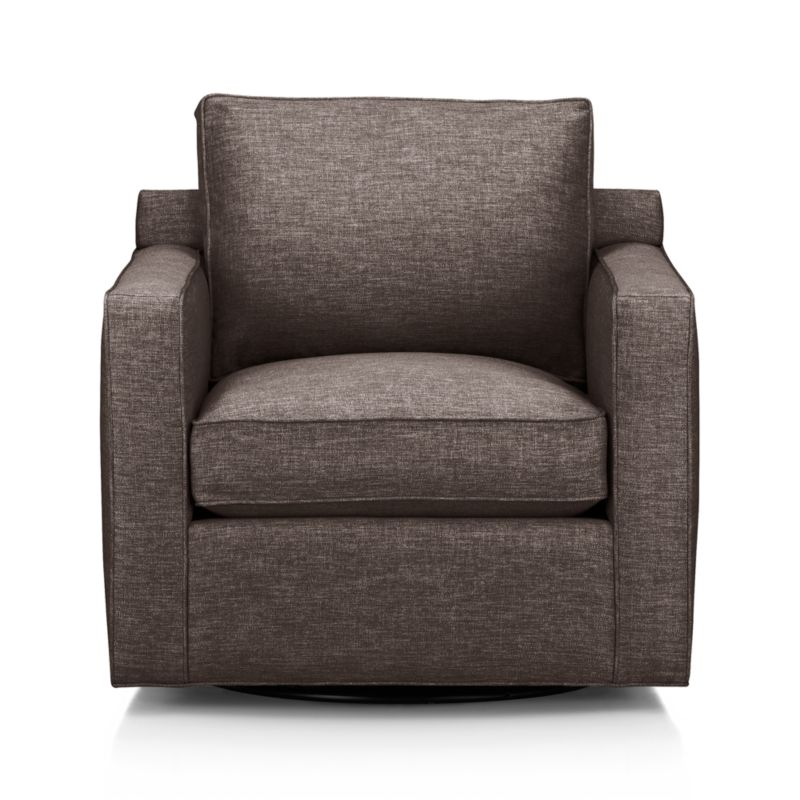 Davis is a contemporary compact swivel designed to sit big in small spaces and let you enjoy 360 degrees of conversation. Pair it with its companion stand-alone or sectional pieces, all with firm but plump support.<br /><br />After you place your order, we will send a fabric swatch via next day air for your final approval. We will contact you to verify both your receipt and approval of the fabric swatch before finalizing your order.<br /><br /><NEWTAG/><ul><li>Eco-friendly construction</li><li>Certified kiln-dried hardwood frame</li><li>Seat cushion is multilayer soy- or plant-based polyfoam wrapped in fiber down blend encased in downproof ticking</li><li>Flexolator spring suspension</li><li>Back cushion is fiber encased in downproof ticking</li><li>360-degree swivel mechanism</li><li>Self-welt detail</li><li>Benchmade</li><li>See additional frame options below</li><li>Made in North Carolina, USA</li></ul>