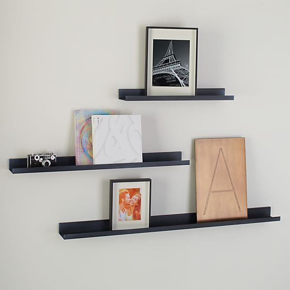 Davis Zinc Wall Shelves Crate And Barrel