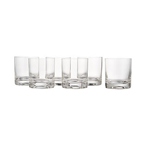 Double Old Fashioned Glasses Set of Six