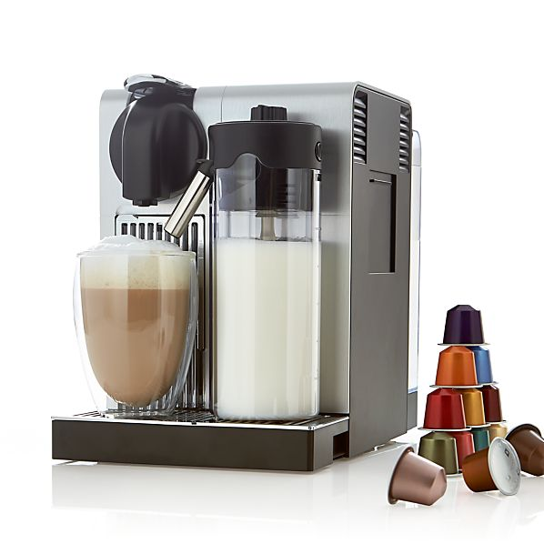 delonghi nespresso lattissima pro espresso maker crate and barrel. Black Bedroom Furniture Sets. Home Design Ideas