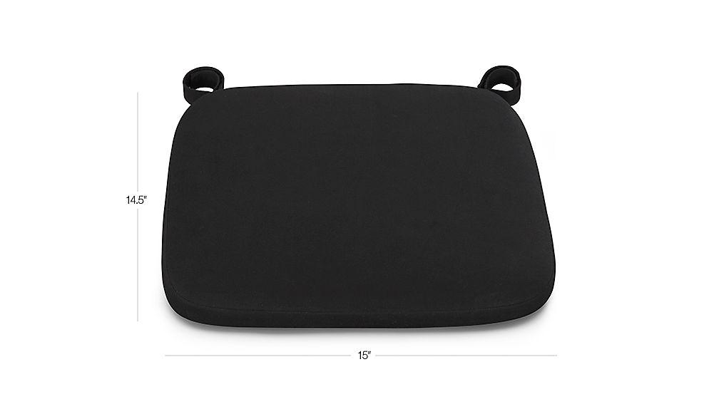 Delta Black Chair-Bar Stool Cushion Dimensions