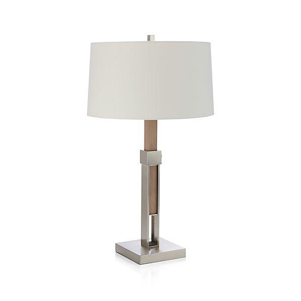 denley nickel table lamp crate and barrel. Black Bedroom Furniture Sets. Home Design Ideas