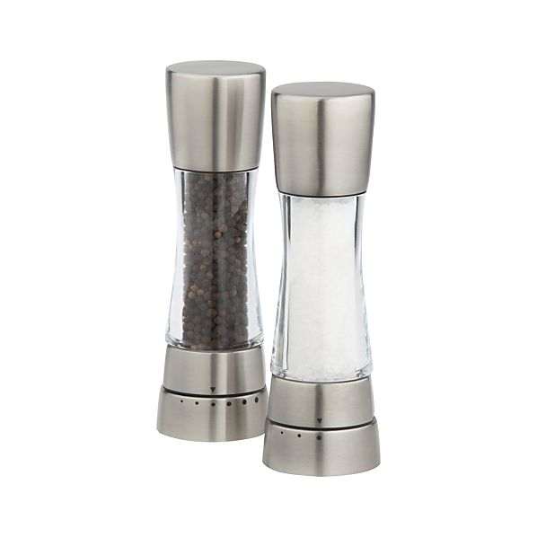 Cole & Mason Derwent Stainless Steel Adjustable Salt and Pepper Mills