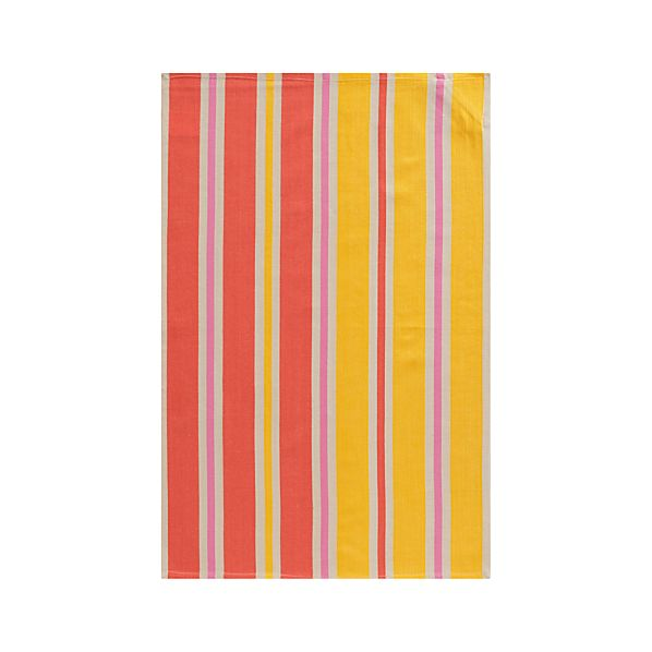 Devon Pink Stripe Dishtowel