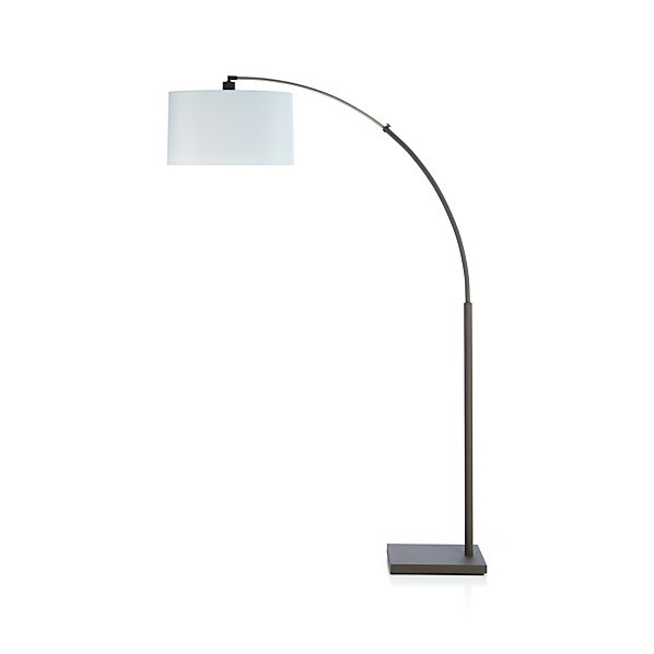 Dexter floor lamp with white shade crate and barrel for Arc floor lamp with white shade