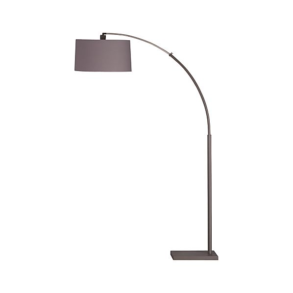 Dexter Arc Floor Lamp with Grey Shade