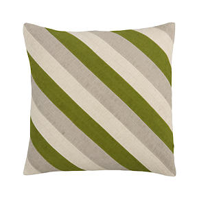 Diagonal Green 20 Pillow