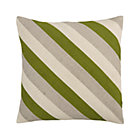 Diagonal Green Pillow.