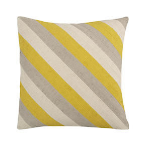 Diagonal Yellow 20 Pillow