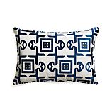 "Diamond Tile 18""x12"" Pillow with Down-Alternative Insert"