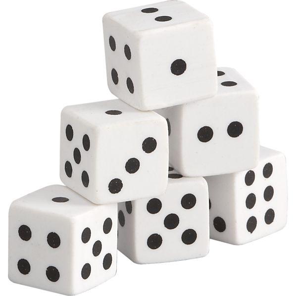 Set of 6 Dicer Erasers