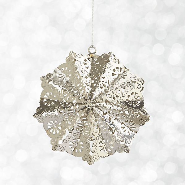 Dimensional Snowflake Ornament