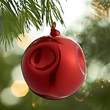 Dimple Red Ball Ornament