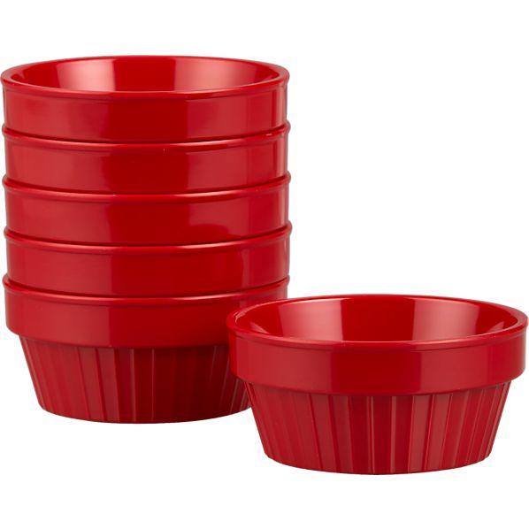 Set of 6 Melamine Dip Bowls