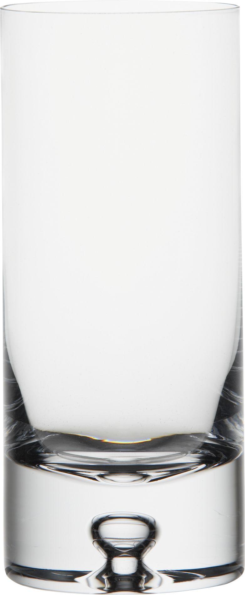 Our most popular barware collection. Sleek, cylindrical shape with a signature open bubble in the hefty sham base.<br /><br /><NEWTAG/><ul><li>Handmade</li><li>Exceptionally clear glass</li><li>Cut and polished rim</li><li>Dishwasher-safe</li><li>Made in Poland</li></ul>