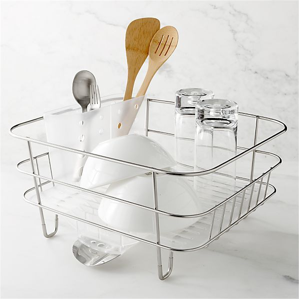 Simplehuman 174 Compact Dish Rack Crate And Barrel