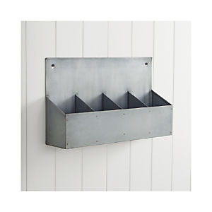 Divided Metal Wall Bin