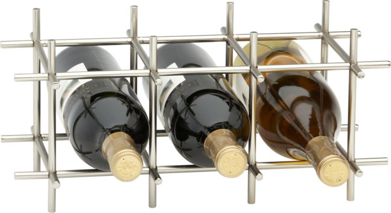 Division Nickel 6-Bottle Wine Rack