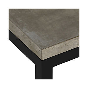 Concrete Top/ Natural Dark Steel Base Parsons Dining Tables