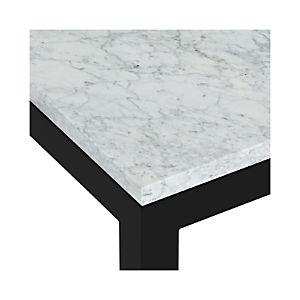 Marble Top/ Dark Steel Base Parsons Dining Tables