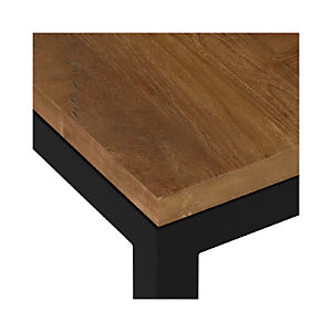 Teak Top/ Natural Dark Steel Base Parsons Dining Tables