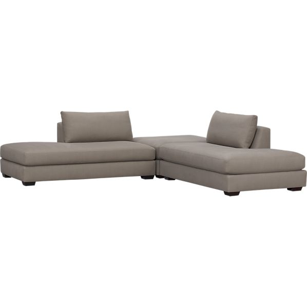 Domino 3-Piece Bumper Sectional